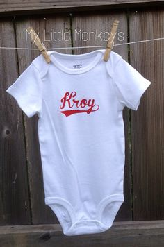 Baby all in one shirt bodysuit custom personalized baby gift i baby all in one shirt bodysuit custom personalized baby gift baseball shirt negle Images