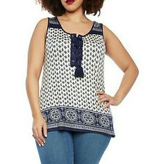 ITS HERE  ! tassel front top NWT Very cute too with empire pattern cut for a relaxed fit true to size you can pair it with some skinny jeans and ballet flats for a chic style. Tops
