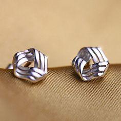 Silver Plated Stud Earrings for Women Trendy Heart Flow Wedding Party Pierced Ear Studs Jewelry  #spring #summer #love #tumblr #followme #fashion #onlineshopping #instagram #instagood #instalove