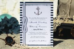 ANY COLOR  Nautical Wedding Invitations by SeaOfLoveStudios, $45.00