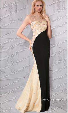 Fabulous Jewelled Floor length high neck sleeveless two tone gown.prom dresses,formal dresses,ball gown,homecoming dresses,party dress,evening dresses,sequin dresses,cocktail dresses,graduation dresses,formal gowns,prom gown,evening gown.