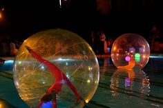 Bubble girls - water show Pool Water, Decoration, Venetian, Christmas Bulbs, Bubbles, Entertainment, Events, Holiday Decor, Creative