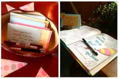 Use a children's book as a guestbook at a baby shower.