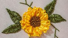 Ribbon Embroidery | Beautiful Flower Design | Hand Stitching | HandiWork...