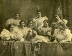 Agnes Scott College Students in Atlanta GA circa 1906.