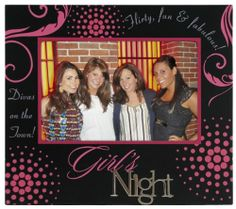 Malden Sentiments Black/Pink Wood Picture Frame, Girl's Night, 4 by 6-Inch Malden,http://www.amazon.com/dp/B003XTAUAU/ref=cm_sw_r_pi_dp_HH7dtb05AJANPZXY