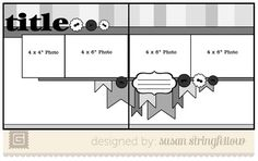 4x6 page layouts - Google Search