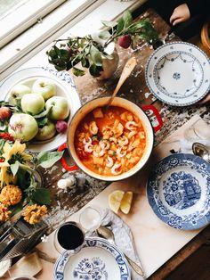 Fiskgryta Healthy Drinks, Healthy Eating, Healthy Recipes, Fresco, Date Dinner, Deco Table, Food Inspiration, Love Food, Foodies