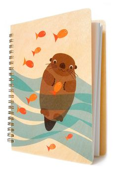 Otter School of Fish * Journal by Night Owl Paper Goods -