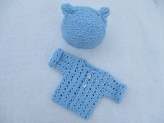 Knitted baby Set Knitted cardigan children's knitted hat