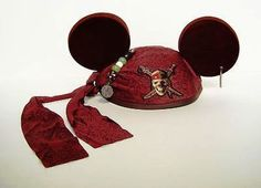 Disney Pirates Of the Carribean Mickey Ear Hat 98431 Disney Mickey Ears, Mickey Mouse Ears, Run Disney, Disney Pins, Disney Running, Running Gear, Disney Cruise, Ear Hats, Pirates