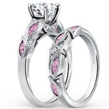 pink sapphire engagement rings with diamonds - Google Search