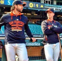 I love these two!!  Ok, I love Joe Panik, Duffy, and Aoki too!  Actually, I love all of them all!!  Bumgarner and Posey will always be my favorites though!  Panik comes in second!