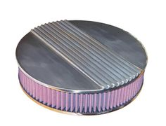 """Air Cleaner 14"""" Round Finned Air Cleaners - O'Brien Truckers  http://www.obrientruckers.com/ecom/product/239/2369/ Sand cast cover made in the USA just like Cal Custom did in the 1950's. Lifetime cotton gauze washable element."""