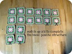 Toddler Poncho Tutorial  Granny Square Poncho   Pretty Prudent