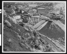 "View of the ""Yellowjacket Mine"" in Virginia City, Nevada, ca.1930 :: California Historical Society Collection, 1860-1960"