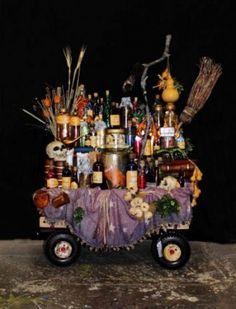 "Grandma's Potion Cart, ""The Addams Family"""