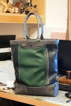 Oliver Tote by Elbeware on Etsy, $449.00