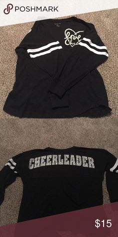 cheerleader long sleeve youth large. only been worn a few times. Tops Tees - Long Sleeve