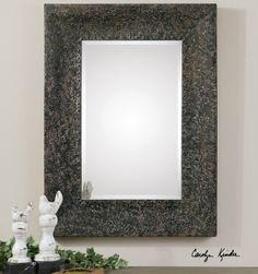 Uttermost Fulvia Hammered Metal Mirror