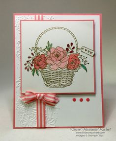 It is time for the Create with Connie and Mary Challenge #499 and oh my, what a challenge it is or at least it was for me! I am using the beautiful new stamp set, Blossoming Basket. This lovely stam