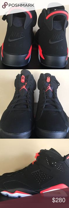 "best loved 90af7 0313e Air Jordan 6 ""Infrared"" OG Nike Air Jordan 6 ""Black Infrared"" Color  Black Infrared  Release Date  February 16, 2019 Style Number  384664-060 Sizes 8-12 ..."