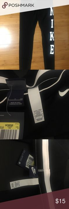 Nike leggings Brand new cotton soft material. Very comfortable, great for working out. Nike Pants Leggings