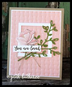 Pink Buckaroo Designs: Springtime Foil and Basket Weave Embossing Folder- Stamp Club to Go