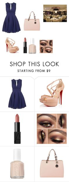 """dinner with the boss"" by queenkayla01 on Polyvore featuring Topshop, Christian Louboutin, NARS Cosmetics, Essie, MICHAEL Michael Kors, women's clothing, women, female, woman and misses"