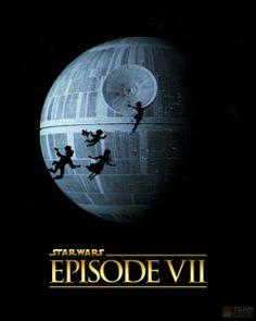 affiches de star wars vii peter pan   Affiches de Star Wars VII inspirées dautres films   Starwars star wars photoshop photo parodie mashup ...