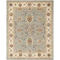 Dunbar Hand-Woven Wool Light Blue/Ivory Area Rug