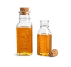 SKS Bottle & Packaging - Glass Bottles, Clear Glass Muth Style Honey Bottles w/ Cork Stoppers Honey Bottles, Bottles And Jars, Glass Bottles, Honey Jars, Wedding Favours Bottles, Honey Wedding Favors, Lazy Susan, Tupperware, Hives And Honey
