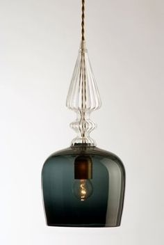 Hand-blown glass lamp shade