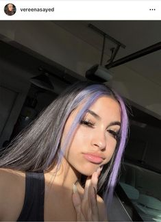The latest pictures Dyed hair aesthetic style Will the origins be . - The latest pictures Dyed hair aesthetic style Will give the origins, d … # latest # more aestheti - Hair Color Streaks, Hair Color Purple, Hair Dye Colors, Hair Highlights, Lilac Hair, Hairstyles With Bangs, Pretty Hairstyles, Summer Hairstyles, Wedding Hairstyles
