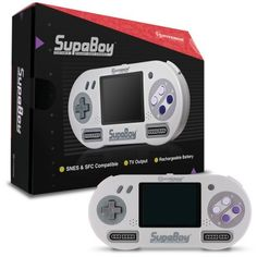 At home or on the go, the SupaBoy plays your favorite Super Nintendo and Super Famicom cartridges anywhere you are. Portable or home console, the SupaBoy is the choice. Super Nintendo, Nintendo 3ds, Tech Gifts For Men, Electronic Gifts For Men, Cool Tech Gifts, Gifts For Women, Electronics Projects, Cool Electronics, Kids Gadgets