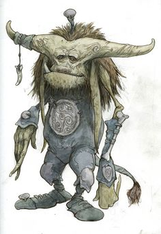 """This is the image for the x static window cling. The art is """"Romantic Troll"""", by Guest of Honor Brian Froud. Who ever guessed Trolls could be romantic? Magic Creatures, Fantasy Creatures, Mythical Creatures, Character Concept, Character Art, Concept Art, Brian Froud, Kobold, Disney Art"""