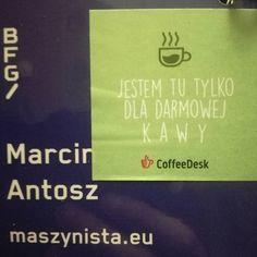 Gdyby ktoś pytał co ja robię na #bfgdansk... #kawa #coffeedesk @bfgdansk