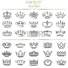 Set de couronnes dans des styles diff rents  Banque d'images