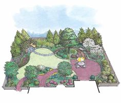 HWBDO11016 - Landscape Plan from BuilderHousePlans.com
