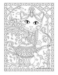 Resultado de imagem para Fanciful Fashions Coloring Book by Marjorie Sarnat: