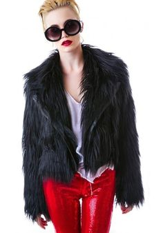 4. #Chaser – Minx Faux Fur Moto Jacket - 7 #Witchy Fashion Pieces #Inspired by American #Horror Story: #Coven ... → Fashion #Fashion