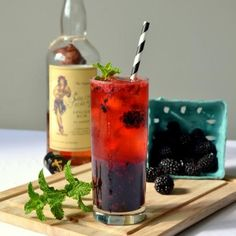 Stay cool this summer with a refreshing Blackberry Mojito!