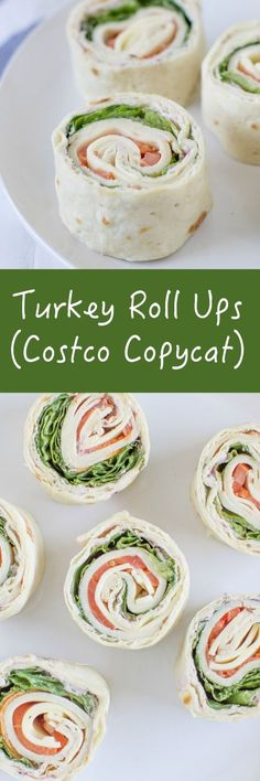 Make your own Turkey Roll Ups at home just like the. Make your own Turkey Roll Ups at home just like the Costco Make your own Turkey Roll Ups at home just like the Costco version! Not only are they easy to make but they are cheaper and taste better too! Snacks Für Party, Lunch Snacks, Lunches, Boat Snacks, Parties Food, Party Appetizers, Pinwheel Appetizers, Pinwheel Recipes, Sandwich Wrap