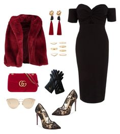 """""""Glamourous"""" by jessica-trisanti on Polyvore featuring River Island, Boohoo, Christian Louboutin, Gucci, Christian Dior, MANGO and Forever 21"""