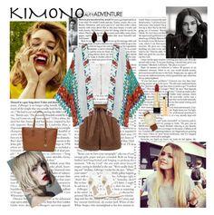 Kimono Time by dinapetridi on Polyvore featuring NLY Trend, Miss Selfridge, BCBGMAXAZRIA, MICHAEL Michael Kors, Forever 21, Dolce&Gabbana and Stila