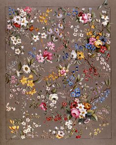 Design for chintz, from an Album of Chintz Designs, by William Kilburn. England…