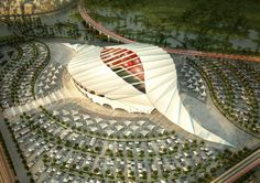 The Al-Khor stadium is one of 12 football arenas being built or  in Qatar for...