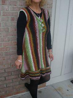 Knitting on the Fringe--Kelly Machado--A-Line Sideways Jumper/ Dress
