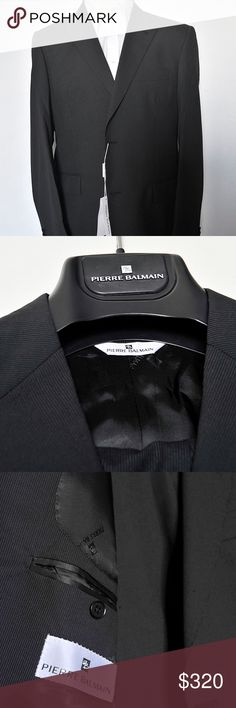 Pierre Balmain Man Suit Grey Size 52 Dual Vent New! Pierre Balmain Man Suit Color Charcoal Grey   Size 52 Dual Vent CONDITION: NEW WITH TAGS SIZE: 52 Stile. 2 Button ART.  114935 Mod.  CN 2BT Color. 701 External Fabric :  100% Wool  Secondary Fabric : 100% Viscose Made in ITALY Guaranteed 100% Authentic or Your Money Back  Photos are original and of the actual item that will be shipped Pierre Balmain Suits & Blazers Suits