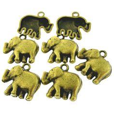 16 pcs Antique Brass Bronze Alloy by FancyGemsandFindings on Etsy, $3.75